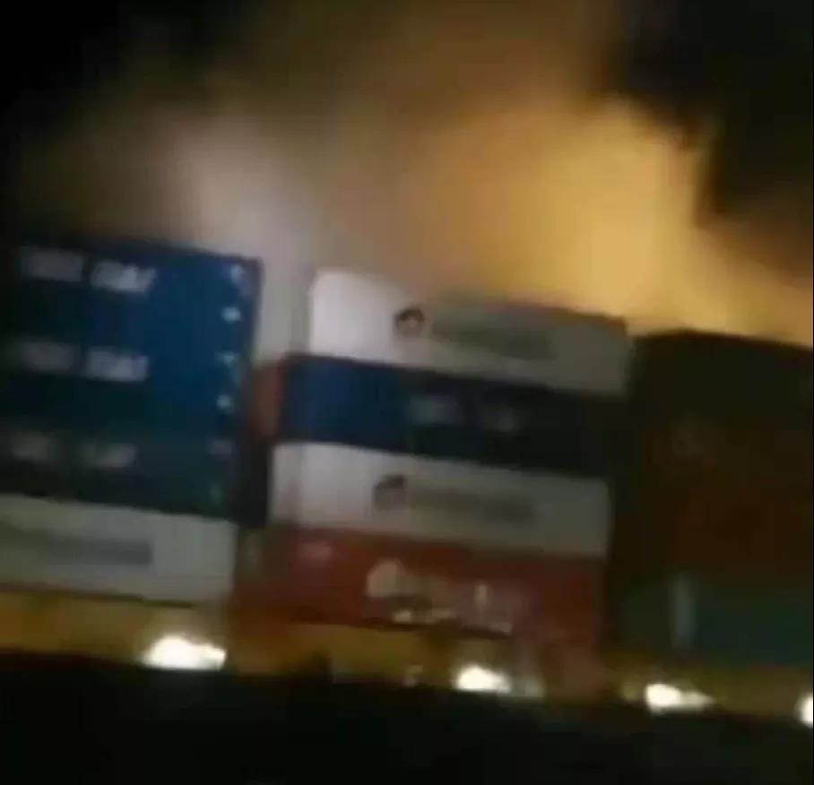 大事故,满载中国货物的大型集装箱船突发大火!近期原材料的行情